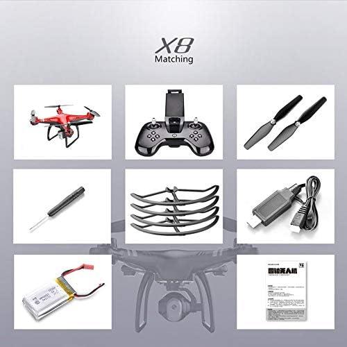 salida X8 2.4G 22 Mins Flight Flight Flight 720P Camera Altitude Hold Headless Mode RC Quadcopter rojo  ahorra 50% -75% de descuento