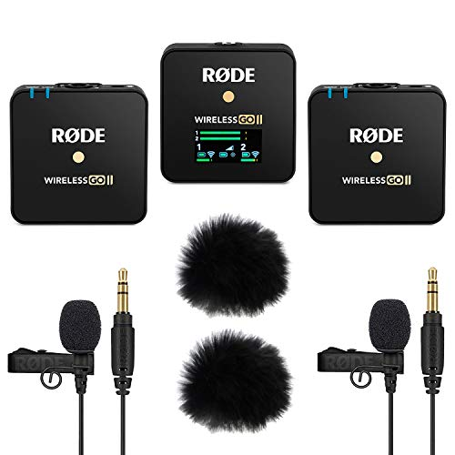 Rode Wireless GO II 2-Kanal Mikrofon-Funksystem + 2x Lavalier GO + 2x keepdrum Windschutz