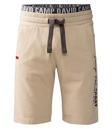 Camp David Herren Sweat Shorts mit Logo-Elastikbund