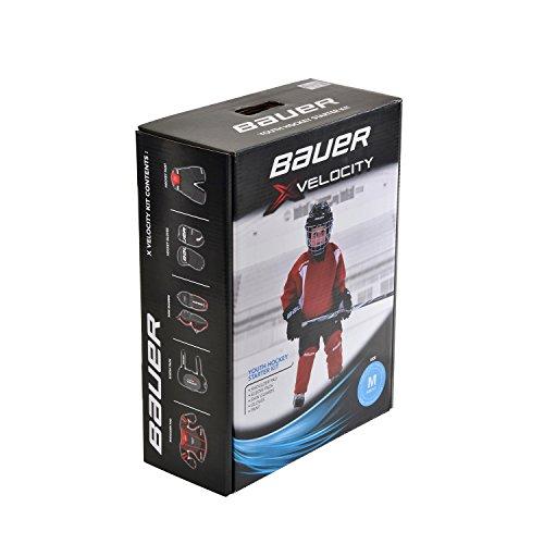 BAUER - Xvelocity Youth Hockey Starter Kit I Eishockey-Ausrüstung für Kinder I Starter-Ausrüstung für Hockeytraining I Schutz für den ganzen Körper I Hockey...
