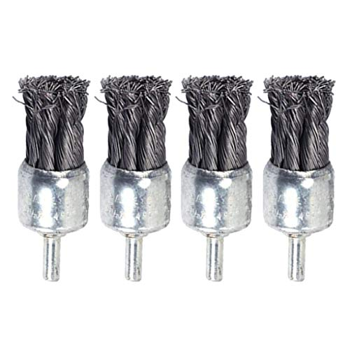 Amuzocity 4pcs Knot Wire End Brush Polishing Wire Brush Removing of Rust, Dirt