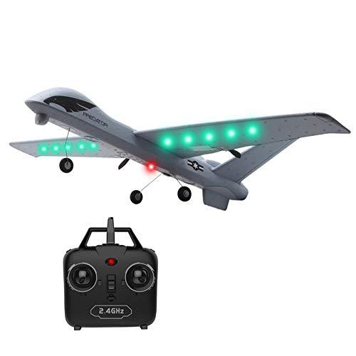 WEIFLY Drohne RC Drone Flugzeug 2,4G 2CH Predator Fernbedienung 660mm Spannweite Schaum für 21 Minuten Flugzeit