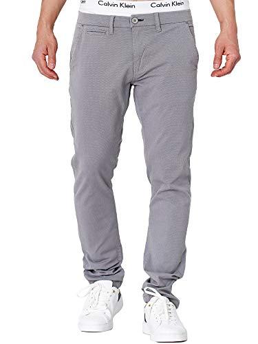 Indicode Herren Creed Chinohose mit 4 Taschen aus 98% Baumwolle   Lange Chino Hose Stretch Herrenhose Freizeithose Baumwoll-Twill Regular Fit Stoffhose Baumwollhose für Männer Lt Grey 32/32