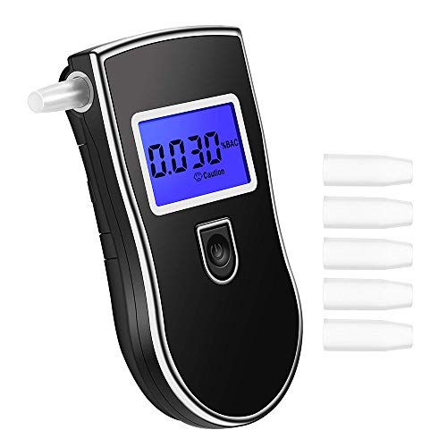 Alcoholímetro, Alcohol respiratoria Medidor, Digital alcoholemia con Sensor semiconductor, Analyzer Alcohol Tester, Pantalla LCD, Medidores Alcohol
