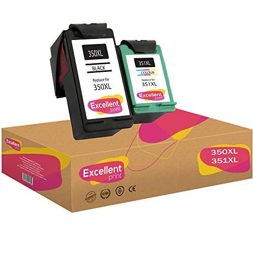 Excellent Print 350XL 351XL 350 351 Compatible Cartouches d'encre pour HP Officejet 5740 Photosmart C4280 C4480 C4205