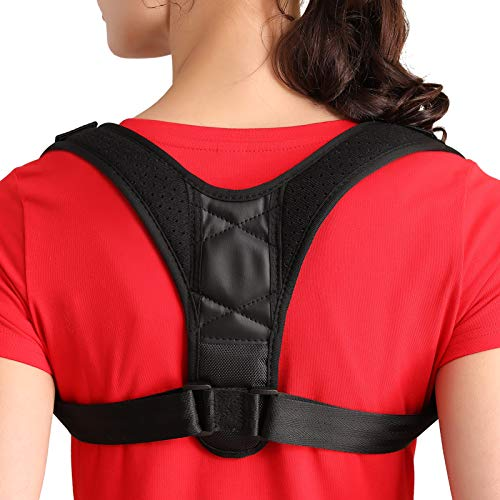 JOBYNA Posture Corrector for Men and Women, Adjustable Upper Back Brace for Clavicle Support, Back Straightener and Providing Pain Relief from Neck, Back and Shoulder