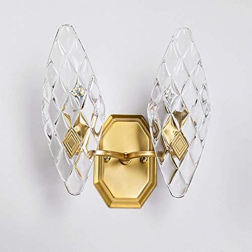 LGR Lámpara de Pared de Cristal Minimalista Moderna, lámpara de Pared de Dormitorio de Sala de Estar con Cabeza única, lámpara de Pared con Personalidad Creativa