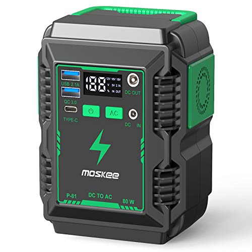 Moskee Portable Power Station 74Wh 20000mAh with 110V (Peak 150w) AC Outlet Camping Solar Generator Lithium Battery Backup Power Supply 3 USB Ports for Outdoor Camping Travel Emergency