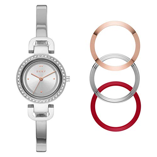 DKNY Damen-Uhren Analog Quarz One Size Edelstahl 87880605