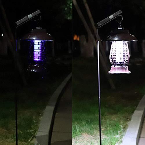 CVDEKH Asesino Solar de Mosquitos, Trampa de Mosca Ligera de la Tienda Patio al Aire Libre con Gancho, Trampa Atrayente de Mosquitos para Exterior e Interior, Hangable