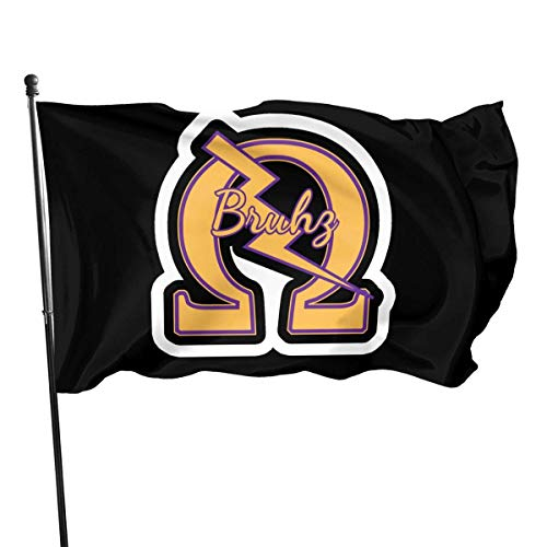 Lsjuee 1911 Ome-Ga Que Dog Roo Nasty Dawg Psi Phi 3 Outdoor Flags Home Garden Flags Decorative Flags 3x5 Ft Black