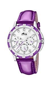 Lotus 15746/6 - Reloj analógico de Cuarzo para Mujer con Correa de Piel, Color Morado