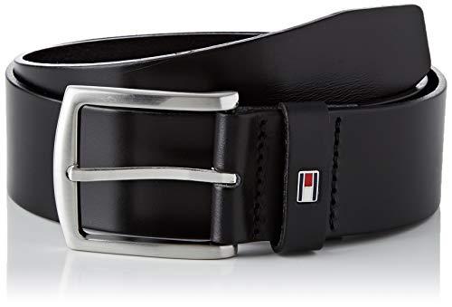 Tommy Hilfiger New Denton Belt 4.0 Cinturón, Negro (NEGRO 090), 110 para Hombre