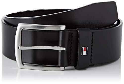 Tommy Hilfiger New Denton Belt 4.0 Cintura, Nero (Black 090), 100 Uomo