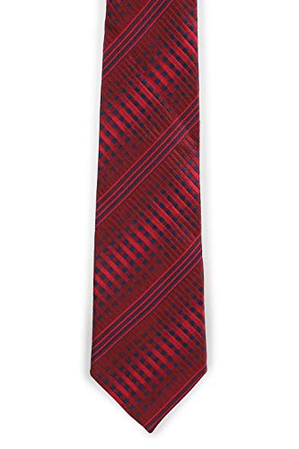Peter England Men's Synthetic Tie (RN32093147_Maroon_Free Size)