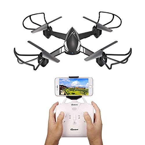 Drone with Camera Live Video for Adults,EACHINE E32HW WiFi FPV with 720P HD Camera Altitude Hold RC Drone Quadcopter RTF - Two Batteries