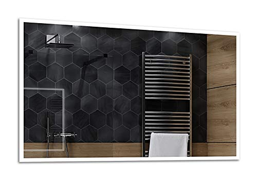 ALASTA® Espejo | LED Espejo de Baño | 100x70 | Boston | Espejo Premium Fabricado a Medida | LED Colores - Seleccione Tipo