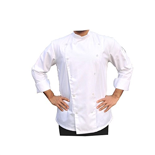 PROFESSIONAL WHITE CHEF COAT/ CHEF JACKET (Large)