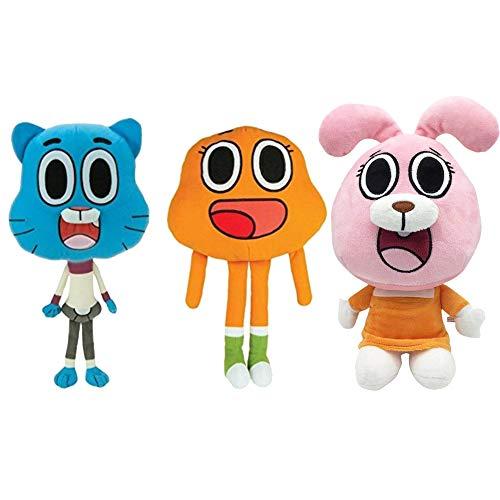 3pcs Amazing World Gumball Darwin Anais Plush Doll Cute Cat Bunny Stuffed Toy Birthday Present Gifts