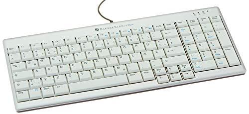 Bakker Elkhuizen BNEU960SCDE Toetsenbord DE QWERTZ Ultraboard 960 wit-zilver met kabel