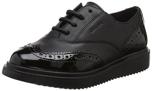 Geox J Thymar Girl E, Zapatos de Cordones Oxford para Niñas, Negro (Black), 41 EU