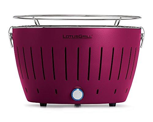 LotusGrill - Barbacoa de carbón sin Humo XL - Púrpura, Estándar