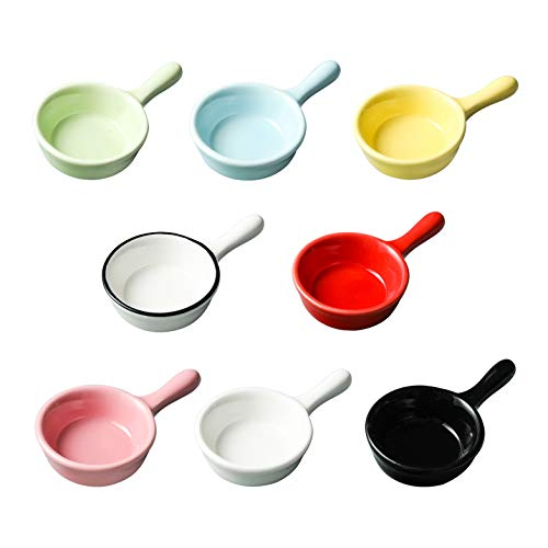 JunZiBuQi 8 Pcs Ceramic Sauce Di...