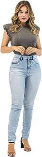 Calça Jeans Feminina Imporium Cropped Cintura Alta Cós Alto 19377