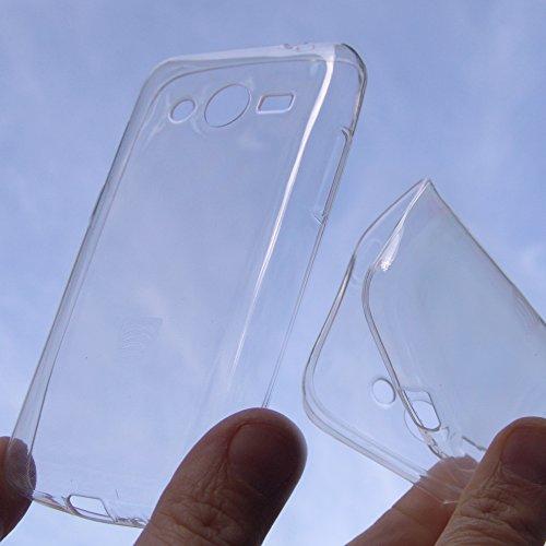 custodia COVER silicone SLIM PROTEZIONE trasparente bianca per Samsung galaxy Ace 4 G357