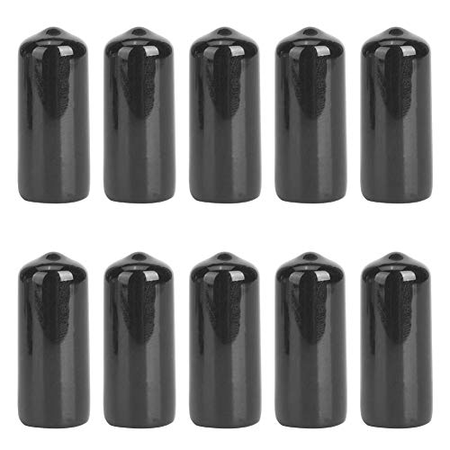 Chacerls Snooker Cue Tip Cover, Snooker Zubehör 10PCS Gummi Robust Billard Pool Cue Tip Protector Kleine Head Club Schutz Stick Cover(10mm)