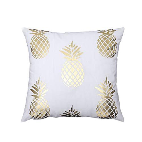 Sherineo La Hoja de Oro Funda de Almohada sofá de la Sala Ornamento de la Cubierta del Amortiguador geométrico impresión del Cortocircuito decoración de la Felpa