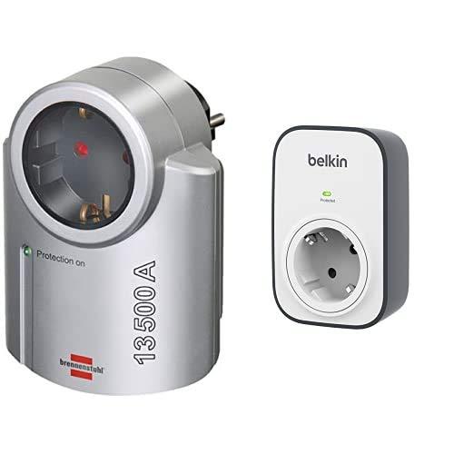 Brennenstuhl 1506950 1506950-Enchufe Adaptador Primera-Line Protegido contra subidas de tensión 13.500A +...