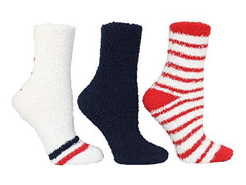 Steve Madden Damen Single Star und Stripe Cozy Sm44833 Hausschuh-Socken, Multi, Einheitsgröße