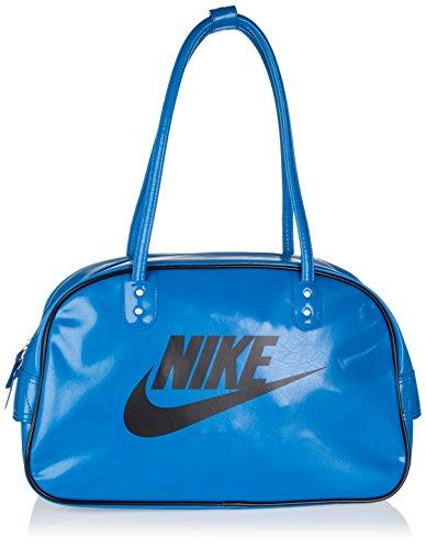 Nike Heritage SI Club - Bolso de hombro para mujer, color azul y negro