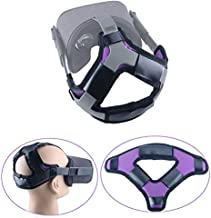 Esimen (Upgrade) Head Strap Pad for Oculus Quest Virtual Reality VR Headset Cushion Headband Fixing Accessories, Comfortable PU Leather & Reduce Head Pressure (Purple)