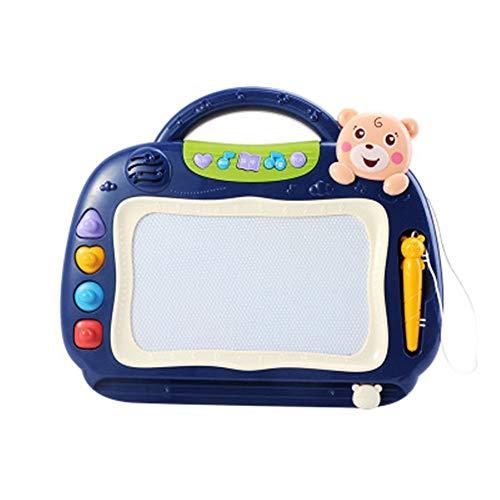 Caballete Para Niños Pantalla colorida portátiles Tablet juguetes de aprendizaje niños Doddle garabato Escribir Dibujo Junta borrables Regalos Adecuados Para Niños ( Color : Azul , Size : 31x26cm )