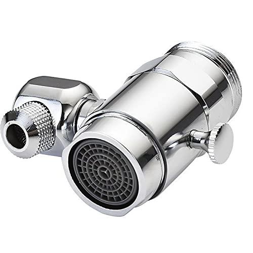 Pulverizador giratorio de 720 °, 2 en 1 grifo universal ahorro de agua Splash filtro grifo para baño cocina