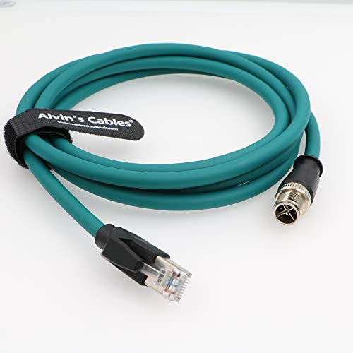 Alvin's Cables Cable Ethernet para M12 8 Posición X Código a RJ45 Cable blindado para cámara industrial P67 impermeable 2M