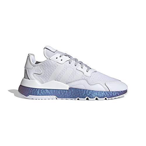 adidas Uomo Nite Jogger Scarpe da Corsa Bianco, 44 2/3