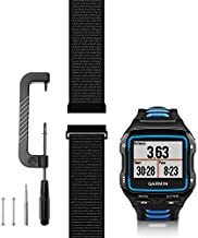 C2D JOY Compatible with Garmin Forerunner 920XT Band Replacement (Pins and Pin Removal Tool) Sport Mesh Strap for Garmin 920XT Accessory Watch Bands Nylon Weave Watchband