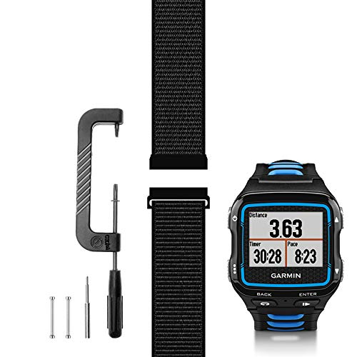 C2D JOY Compatible with Garmin Forerunner 920XT Band Replacement (Pins and Pin Removal Tool) Sport Mesh Strap for Garmin 920XT Accessory Watch Bands Nylon Weave Watchband - 10#, M/5.5-7.9 in.