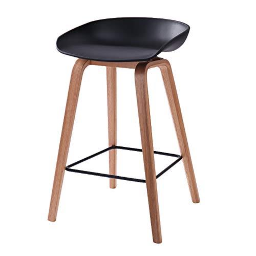 XLZdeng barkruk, moderne comfortabele bistro-pop-zijstoelen zonder rugleuning met houten poten voor thuis, barkruk zonder rugleuning, 3 kleuren clubstoel