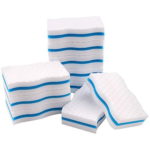 Paquete de 10 esponjas mágicas de goma de borrar de alta calidad, esponjas de melamina extra gruesas a granel para limpiar marcas de cubierta, cocina, baño, suelo y pared de goma de borrar