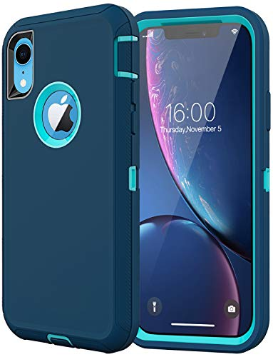 Diverbox Compatible with iPhone Xr Case, [Shockproof] [Dropproof] [Dust-Proof],Heavy Duty Protection Phone Case Cover for Apple iPhone Xr (Turquoise)