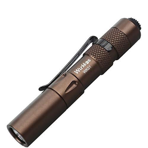 Wurkkos WK01 LED Pen Light - 5mm 150 Lumen mini taschenlampe (ideal für Einsatz im Krankenhaus, Altenheim, Arztpraxis,Handwerker)4000K,Braun
