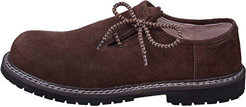 Almwerk Herren Trachtenschuh aus echtem Leder, Schuhgröße:EUR 45, Farbe:Dunkelbraun