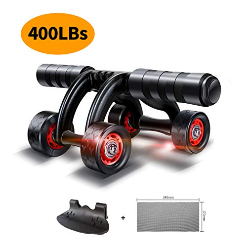 KANSOON Ab Wheel Fitness Equipment - 4 Wheels Innovative Ergonomic Abdominal Roller Carving System - Home Gym Boxing Exercise Workout Equipment - 4-Wheel Roller (4 Wheels)