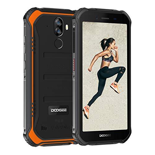 DOOGEE S40 アウトドア スマートフォン 4G SIMフリー スマホ本体 Android 9.0 IP68 防水 防塵 耐衝撃 スマートフォン本体 3GB RAM+32GB ROM 4650mAh大容量バッテリー 5.5インチ HD 全画面 指紋認識 顔認証 携帯電話 デュアルSIM デュアルカメラ80°広角 NFC LEDライト 防災用品 AU不可 技適認証済み 一年保証 (オレンジ)