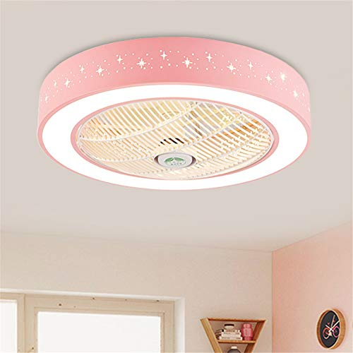 BAYCHEER Drum Acrylic LED 23.5 inch Ceiling Fan Light Kids...