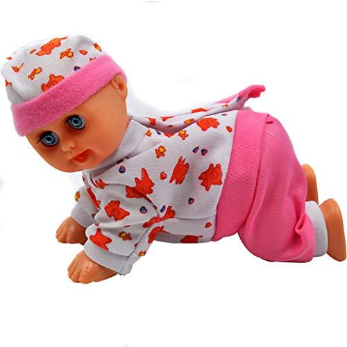 bhty235 Lustige elektrische intelligente Puppe, lachende weinende Baby-Puppe